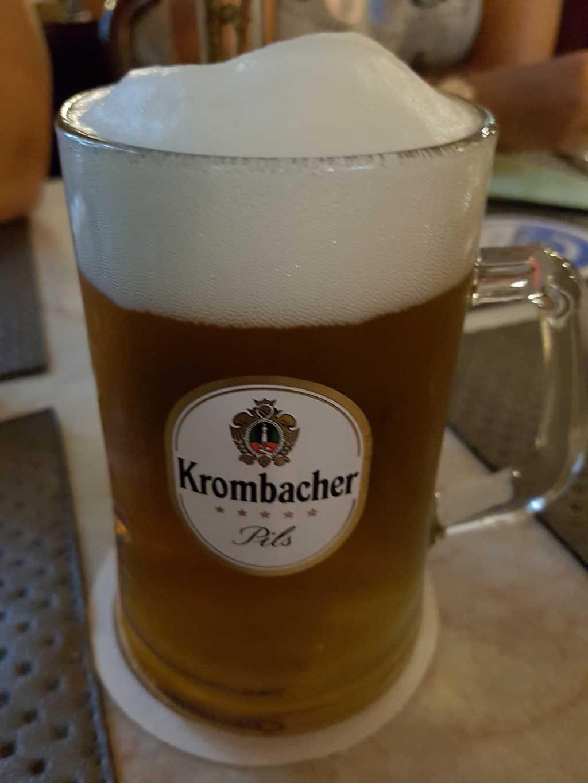 0,4ér Krombacher Pilsner vom Fass für 3,10 €