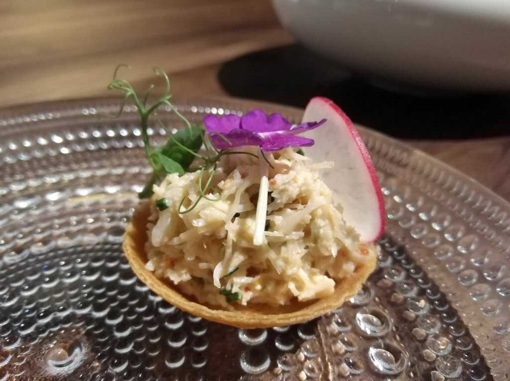 Krabben-Tartelette (Amuse 2)