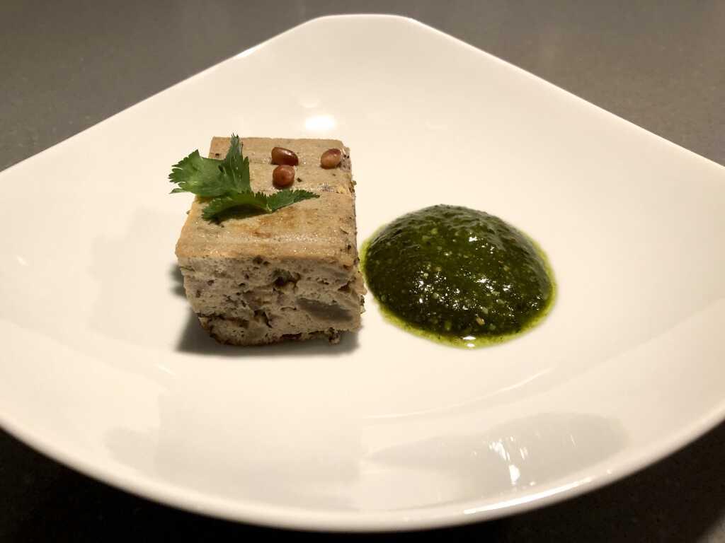 Auberginen-Trouchia und Pesto