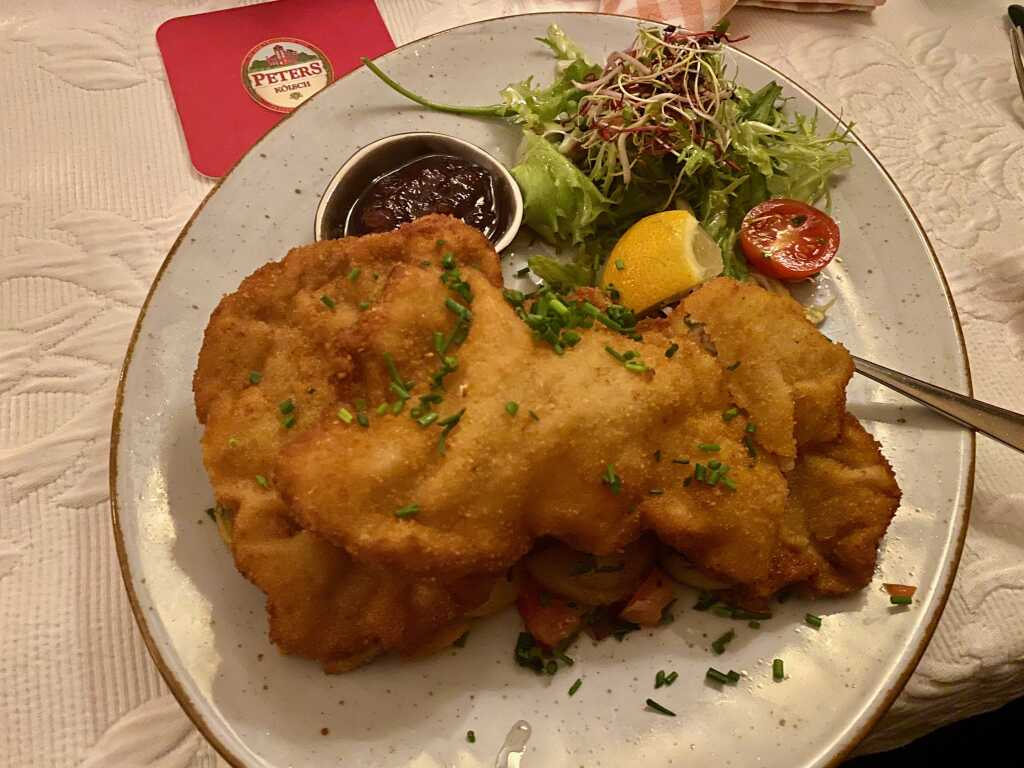 Kalbsschnitzel mit Bratkartoffeln I