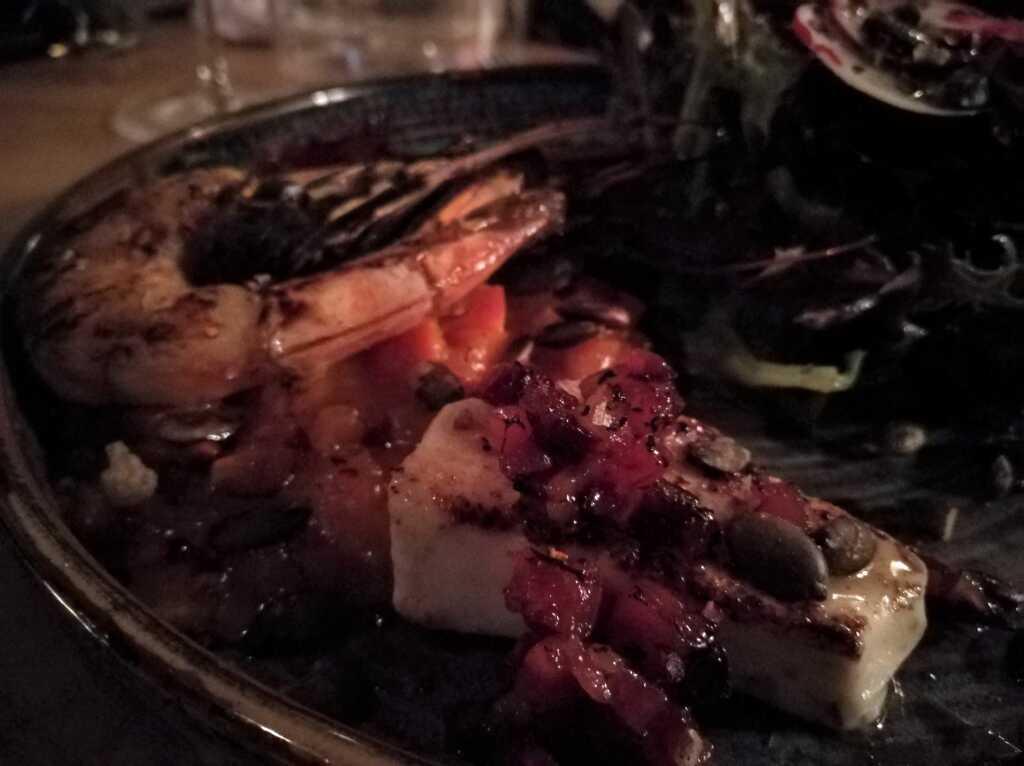 Mein Alter-Engel-Salat mit Garnele fristete nur auf dem Bild ein Schattendasein ;-)