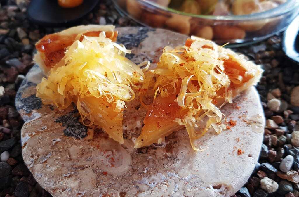 Kartoffel Tarte Tatin-Mimolette