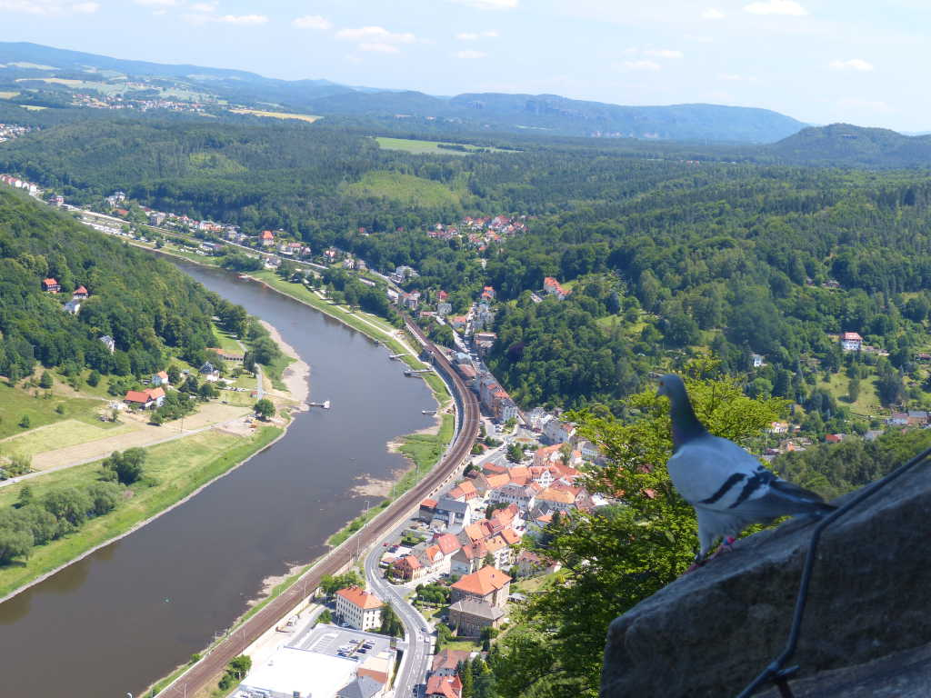 Blick von der Festung ins Elbtal