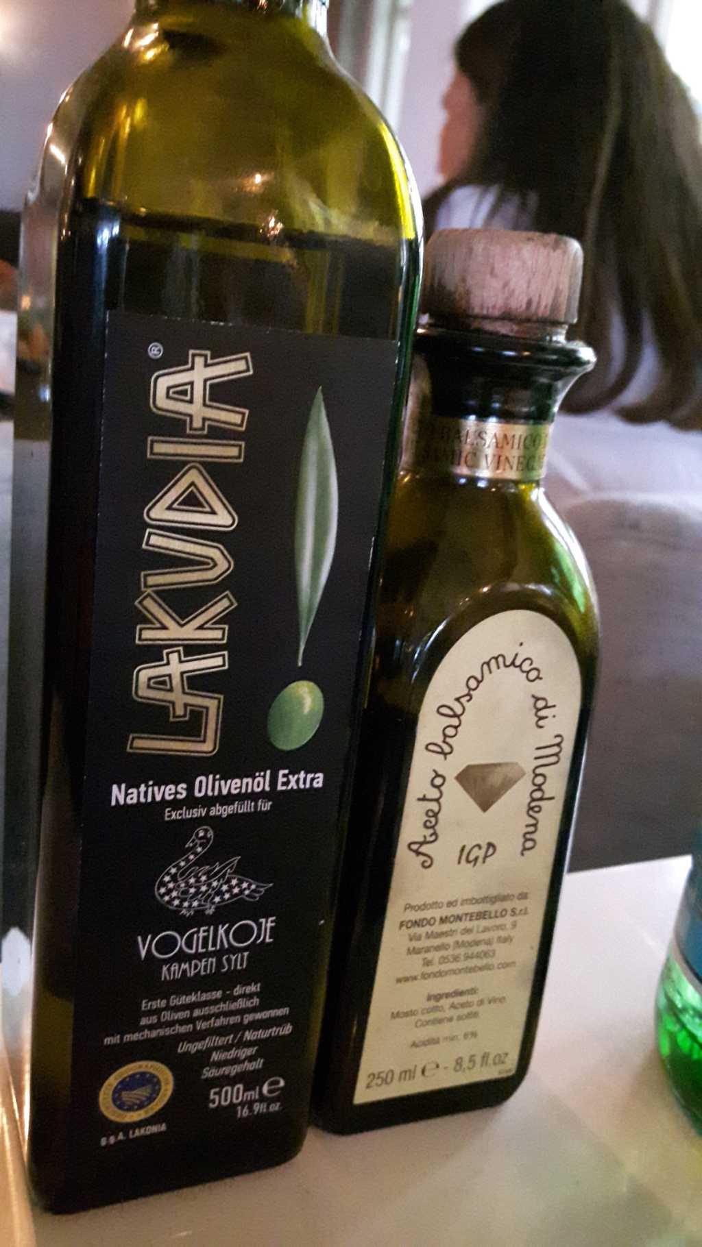 Öl und Balsamico