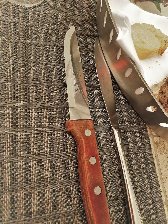 Das Messer für das Steak