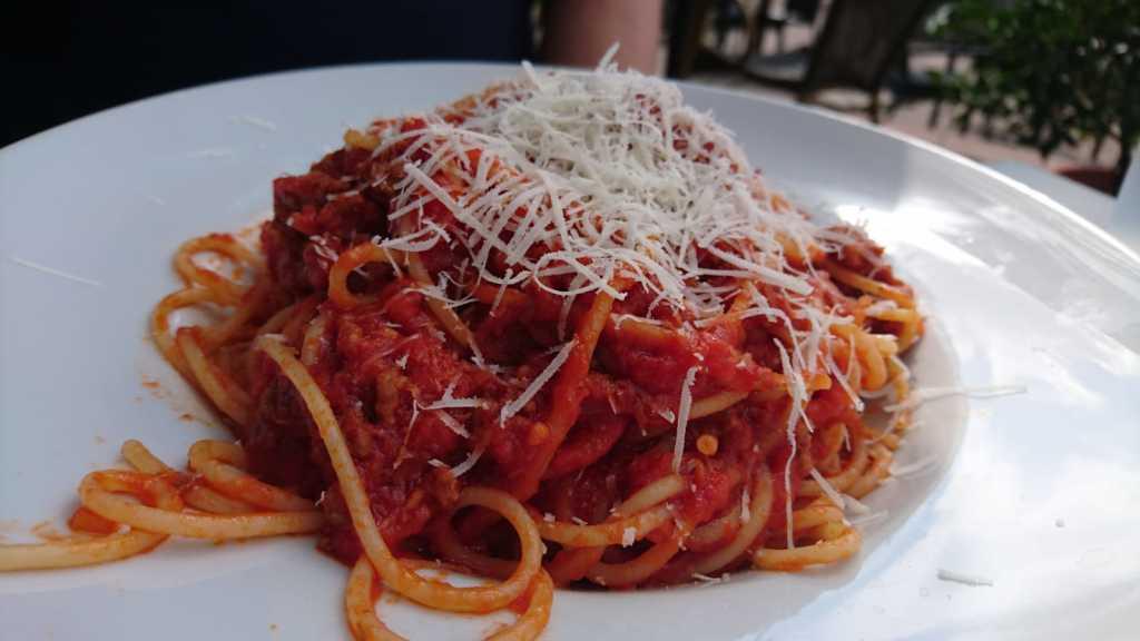 Spaghetti Bolognese, leider ohne Soffritto