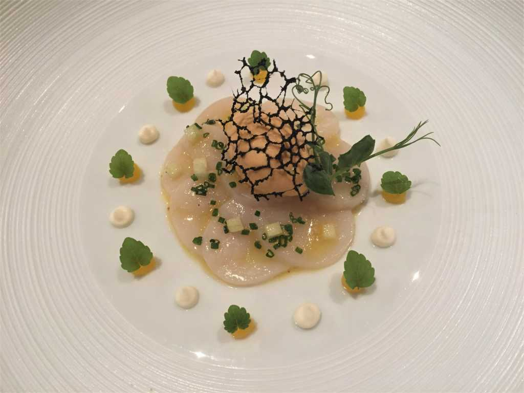 Coquille Saint-Jacques mit Mikan & Seeigel