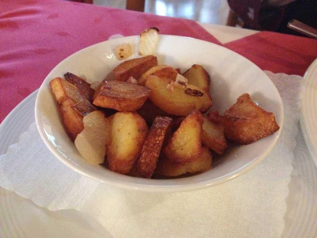 Bratkartoffeln, Beilagen zum Schweinefilet