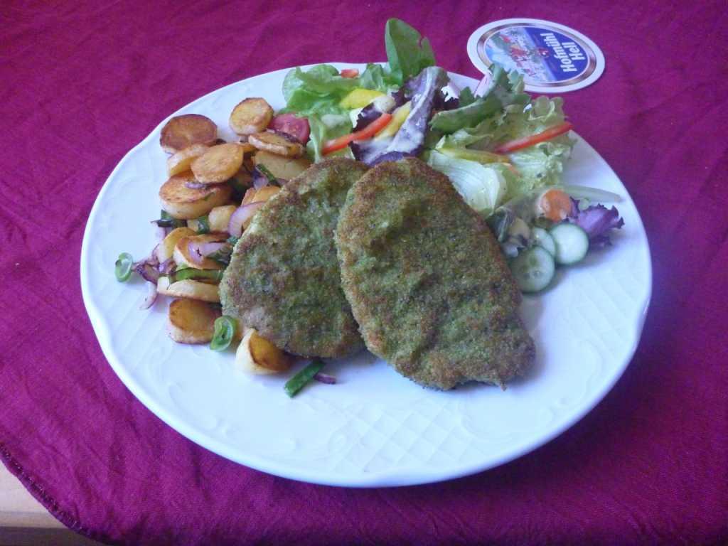Kräuterschnitzel