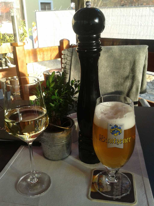 Bautzner Kellerbier mit weißem Hauswein