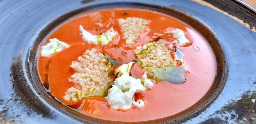 Geeiste (nö) Melonen-Tomatensuppe