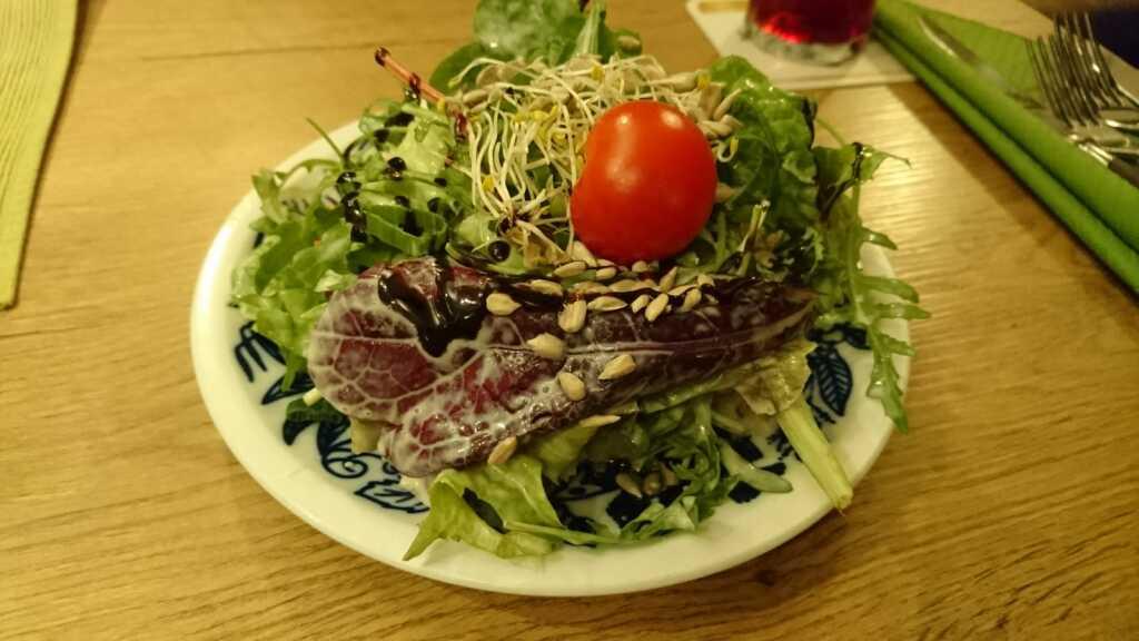 Beilagensalat - leider nicht mundfein geschnitten