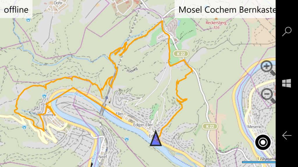 Wanderung Hinterland, Moselhöhenweg Calmont und Klettersteig