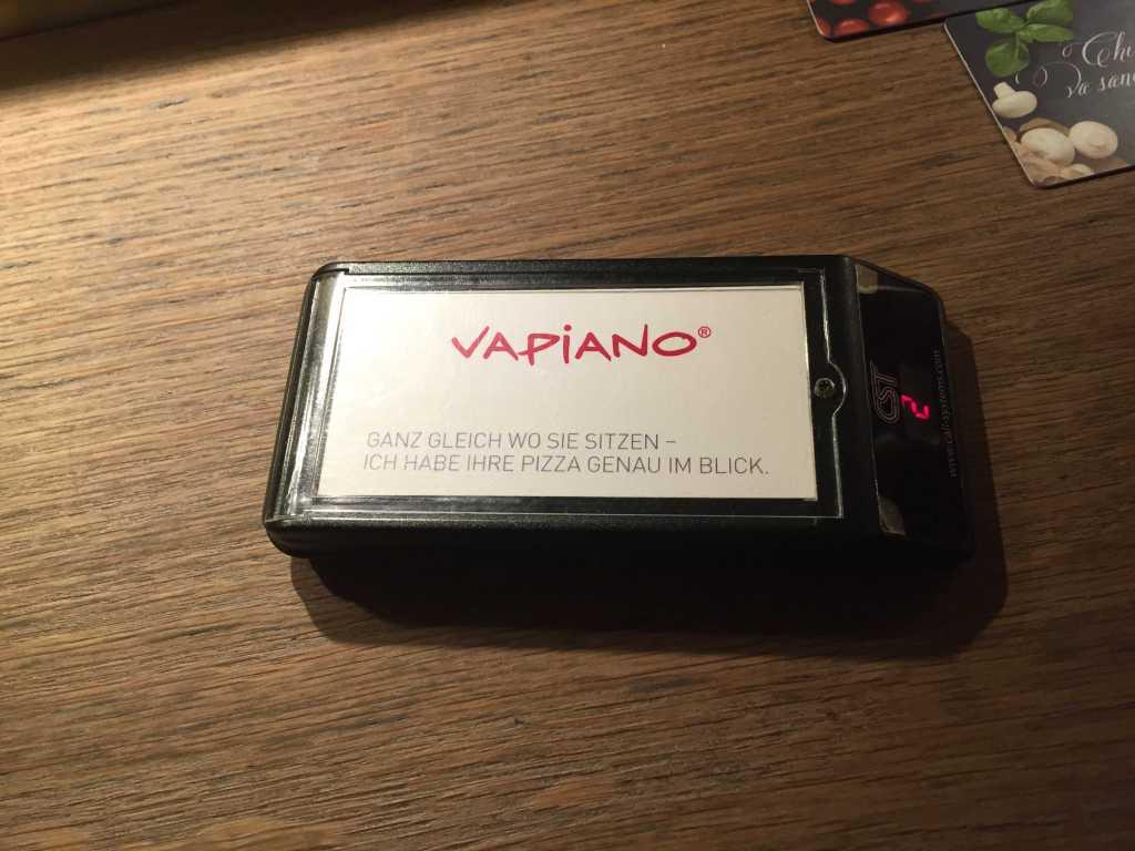 Pizza fertig Vapiano-Piepser