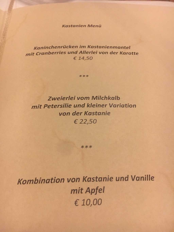 Menü zu EUR 42,--
