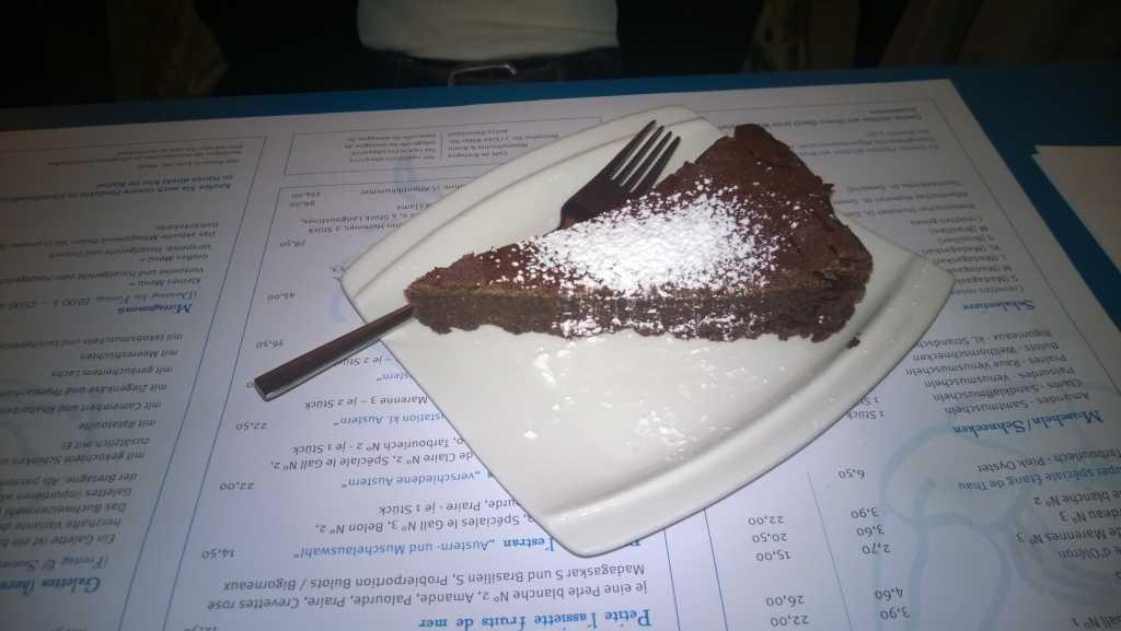 Schokoladenkuchen 3,50 €