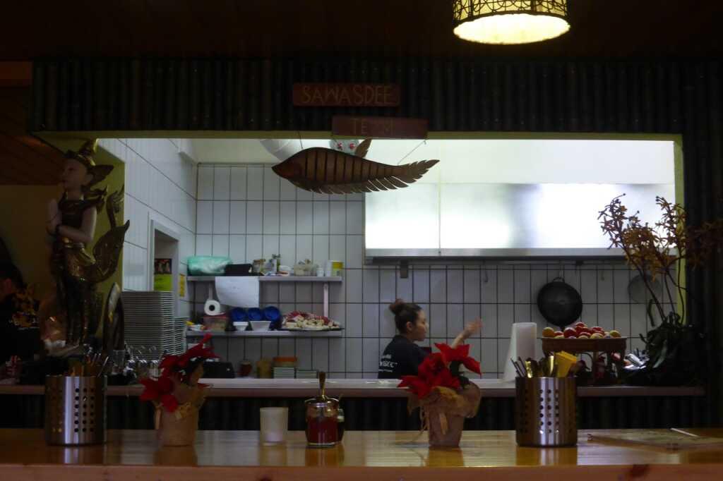 Sängerin beim Kochen