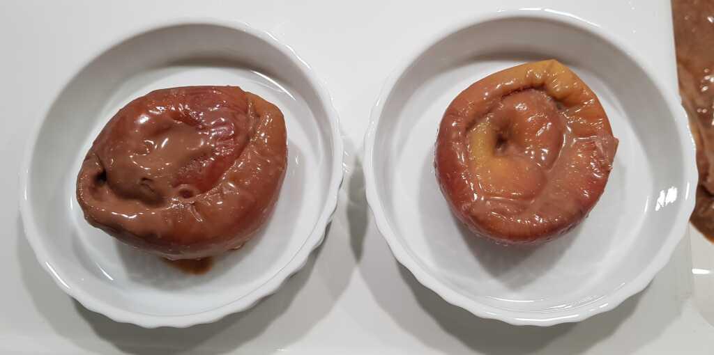 Entpackter Bratapfel