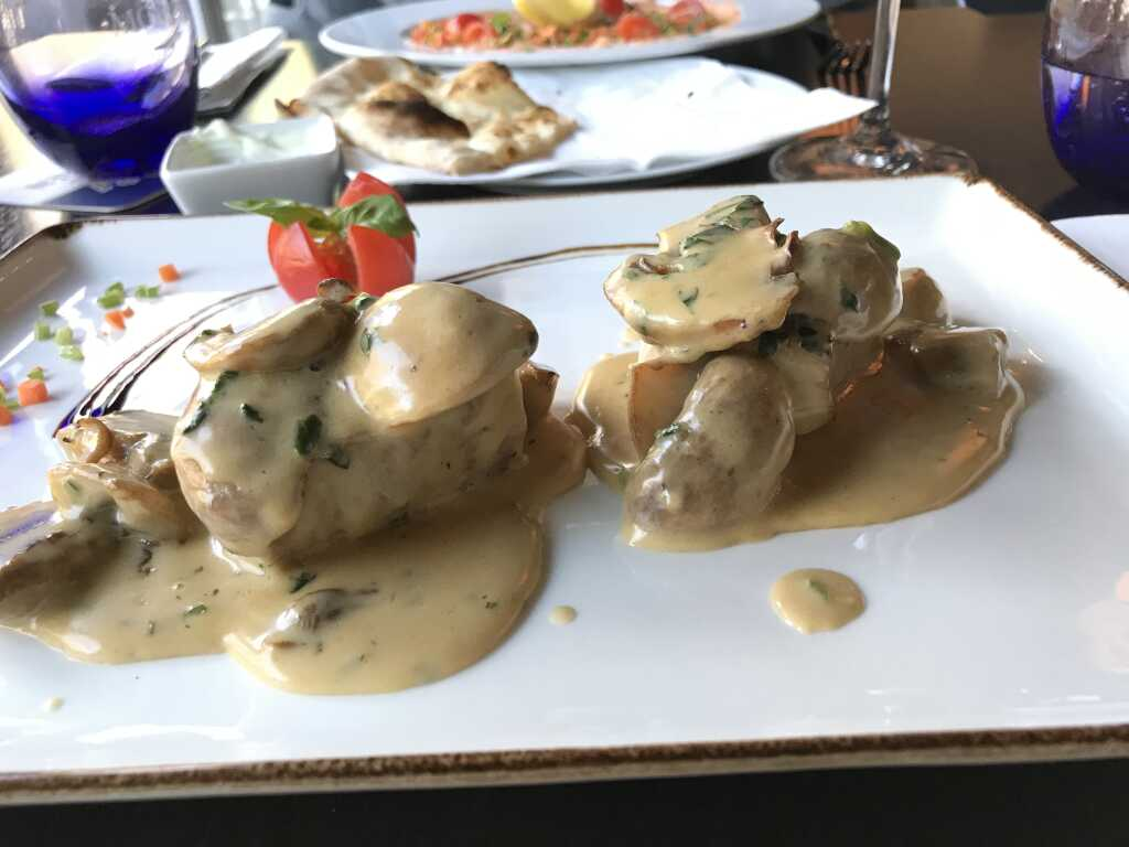 Filetto di Maiale mit frischen Champignons