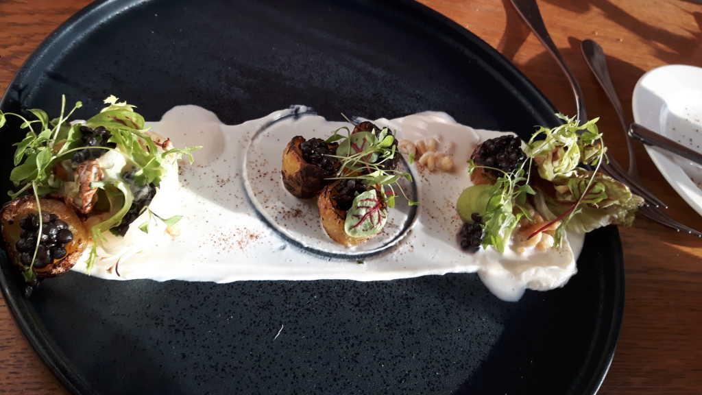 Räucherkartoffel/Beluga-Linsen