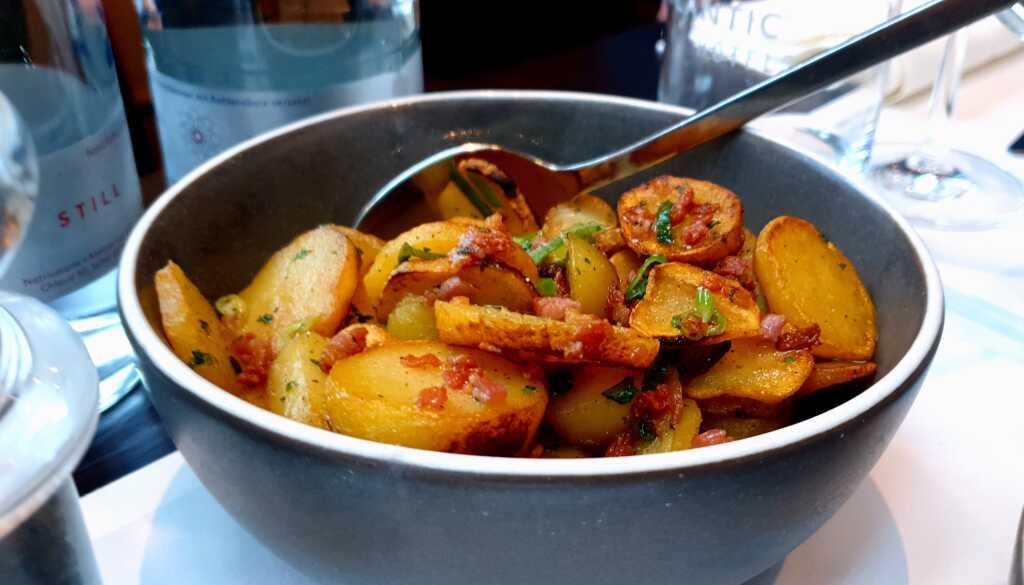 Sehr gelungene Bratkartoffeln (mit Speck)
