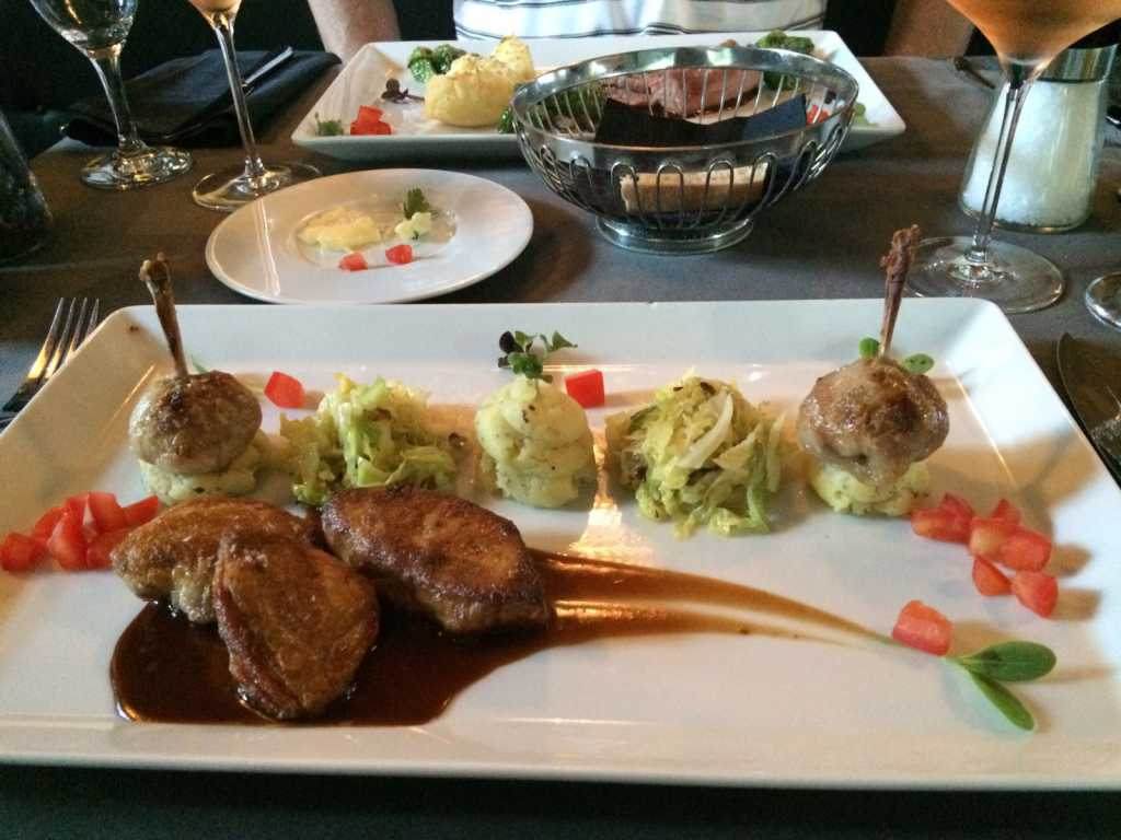 Variationen von der Wachtel und Fois gras de Carnard