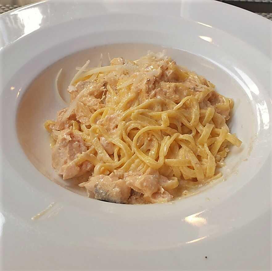 Tagliolini mit Lachs