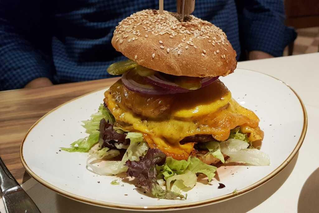 Burger mit Rindfleisch