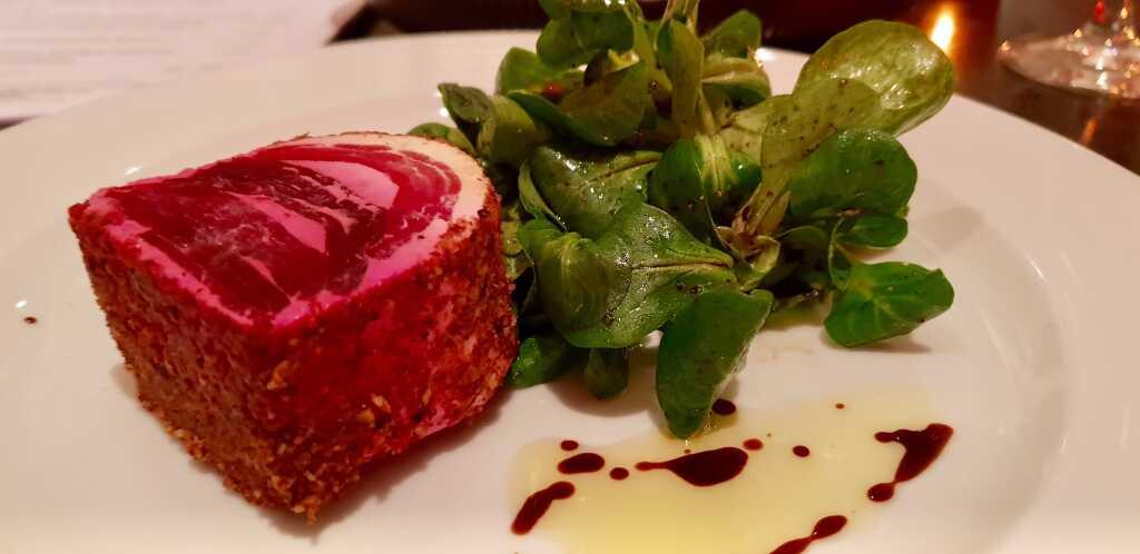 Beilage: Feldsalat und alter Balsamico