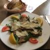 Gegrillte Austernpilze auf Rucola mit Parmesan