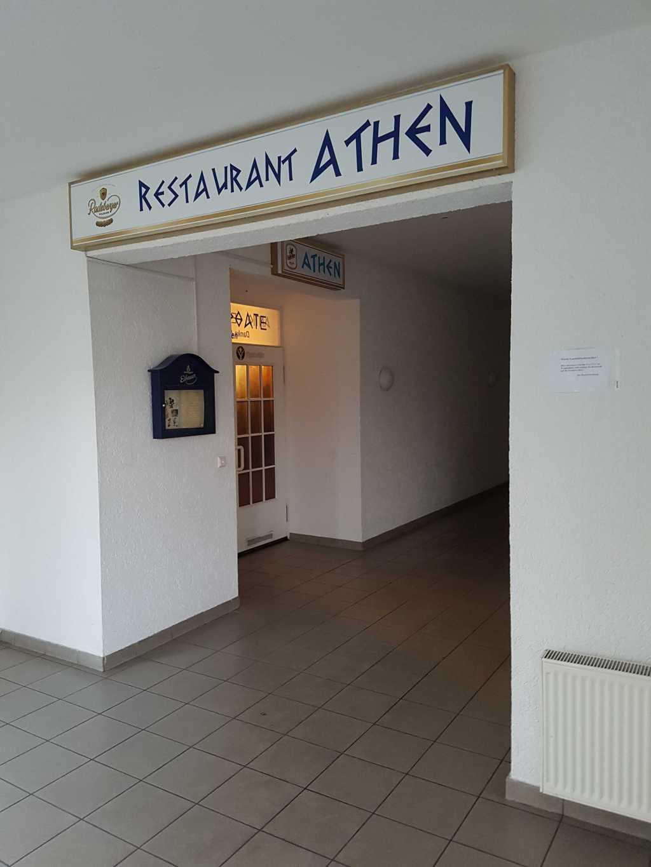 Eingang zum Restaurant im ersten Stock