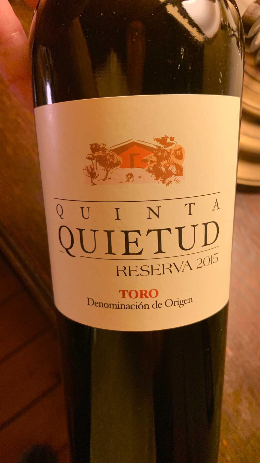 2015 Quinta de la Quietud Reserva, Tempranillo, Toro, Zamora, Spanien