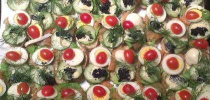 Fotoalbum: Canapes für's Businessfrühstück