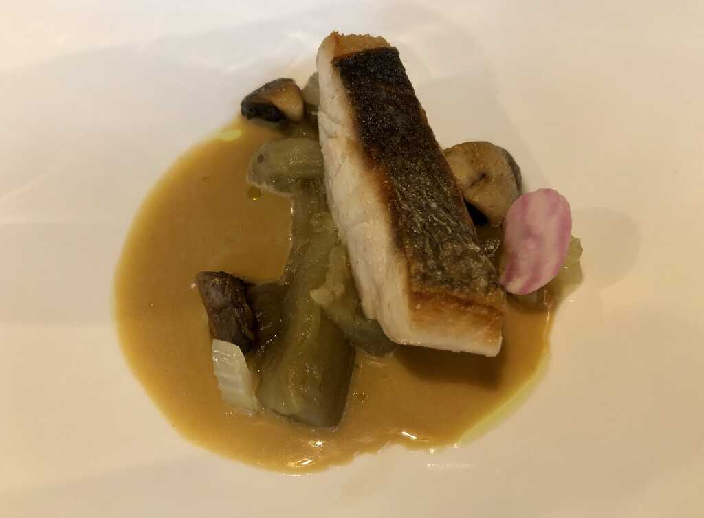 Adlerfisch - Aubergine - Tom Kha Fond