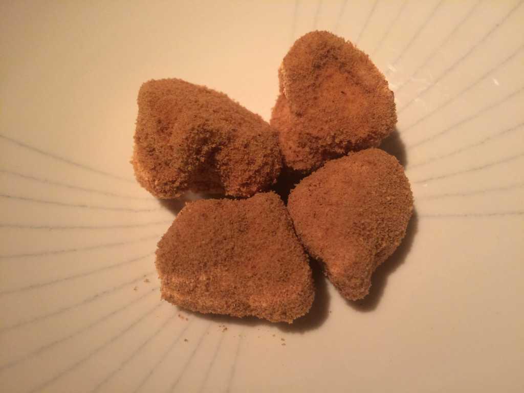 Petits Fours: Buttercremepraline mit geröstetem Mehl
