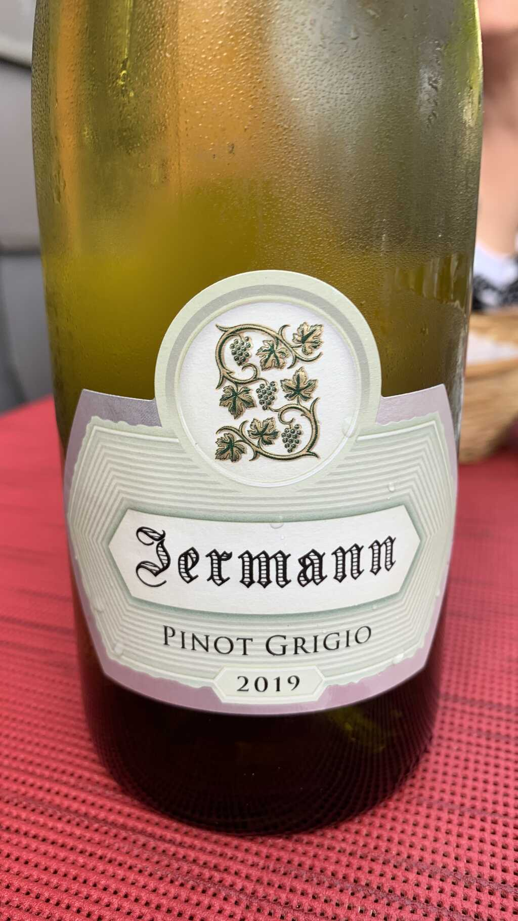 2019 Pinot Grigio, Silvio Jermann (Hochformat, bitte anklicken sofern auf PC oder Mac betrachtet)