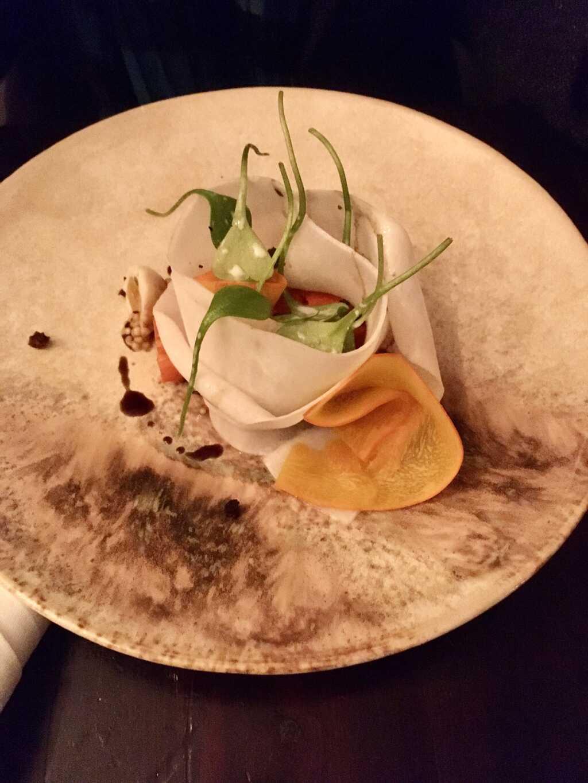 Vegetarisches Menü: Kürbis | Wachtel Sol Ei | Navetten | Portulak