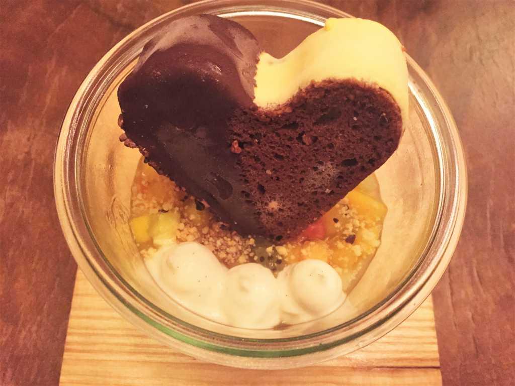 Herz Klopfen - Exotische Früchte, Panna Cotta