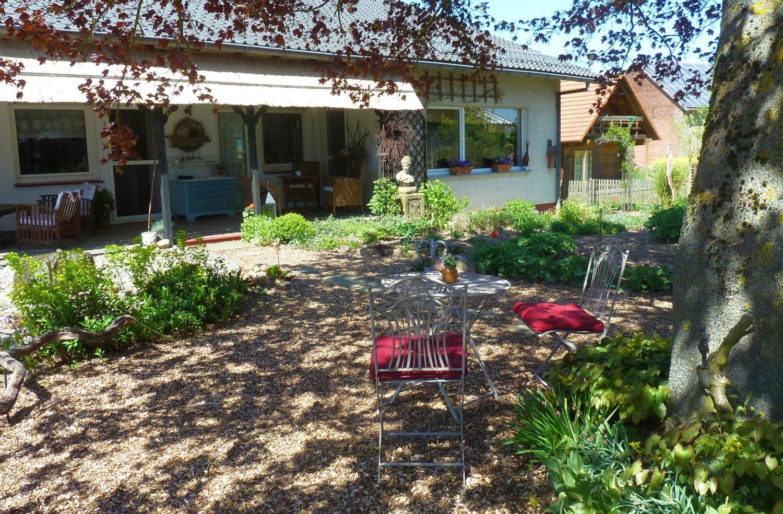 Teil des Garten-Cafés