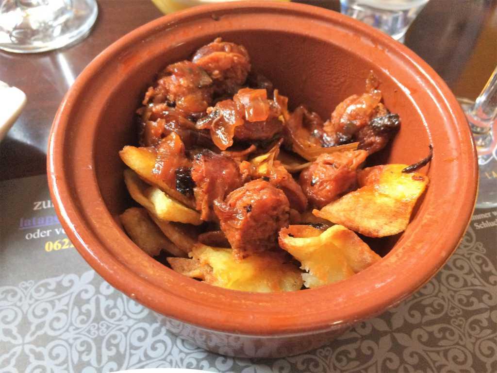 Chorizo m Apfelwein/Honigsosse