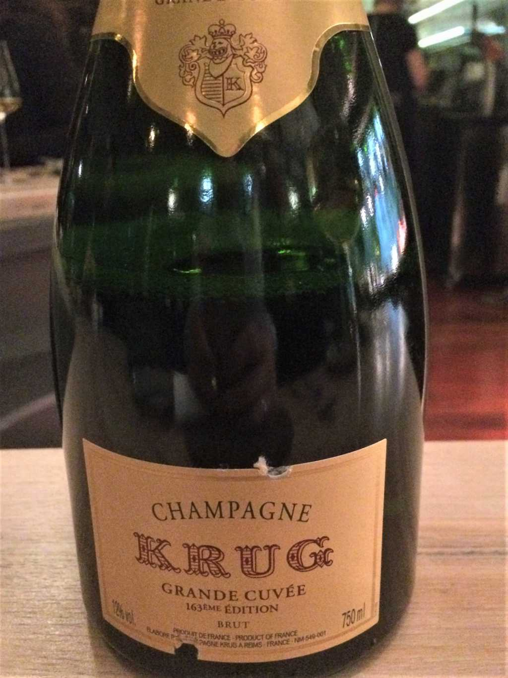 Krug Champagner auch glasweise