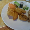Sushi, Algen, frittiertes Sushi, frittierte Wan Tan, Frühlingsrolle