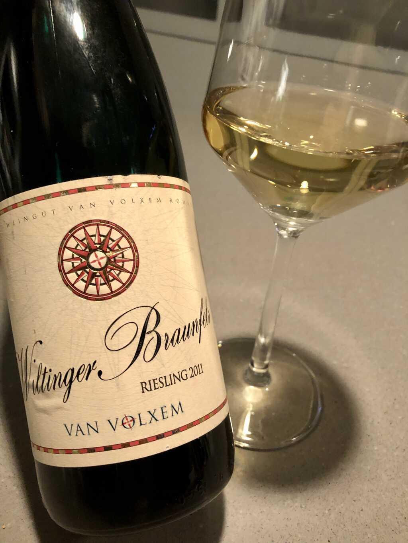 Der Wein heute: 2011 Riesling Wiltinger Braunfels, Weingut Van Volxem, Wiltingen / Saar