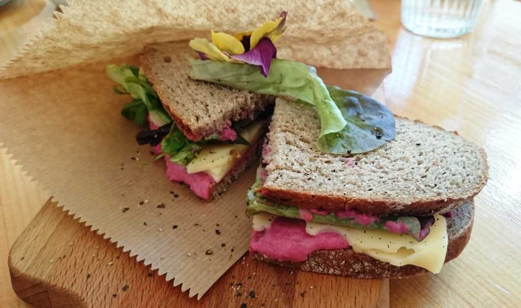 vegetarisches Sandwich