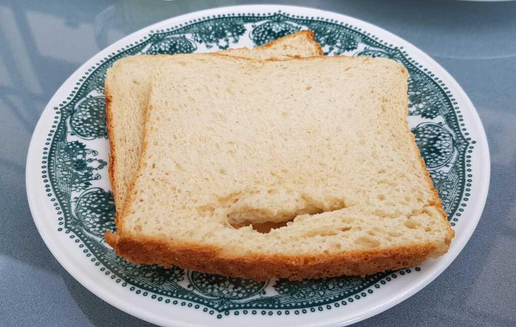 blasser Toast