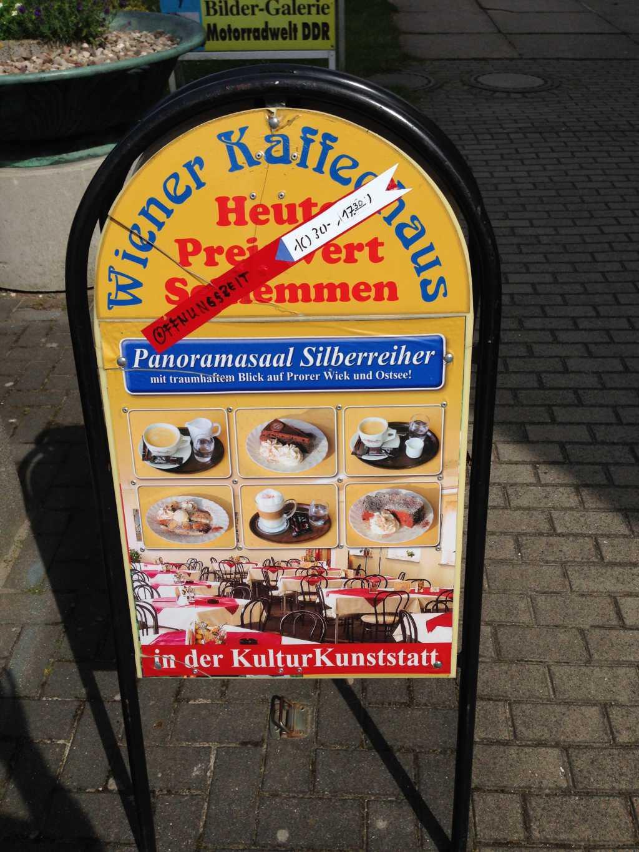 Aufsteller Wiener Kaffeehaus im Juli 2017