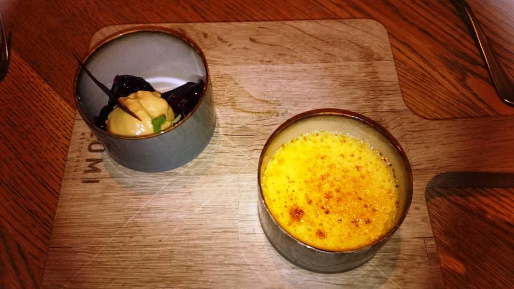 Crème Brûlée, Cassis Feigen, Roggen Eis
