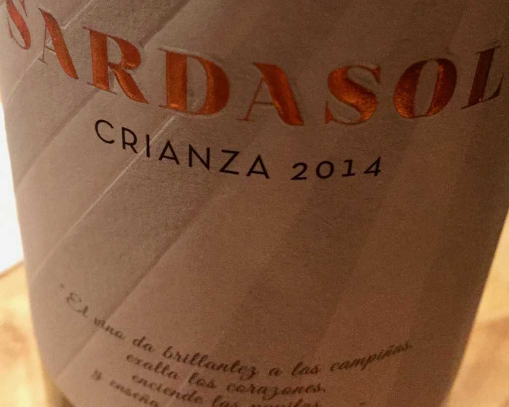 Sardasol, Crianza, Jahrgang 2014