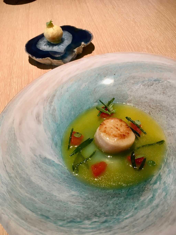 Jakobsmuschel | Olivenölsud | Grapefruit