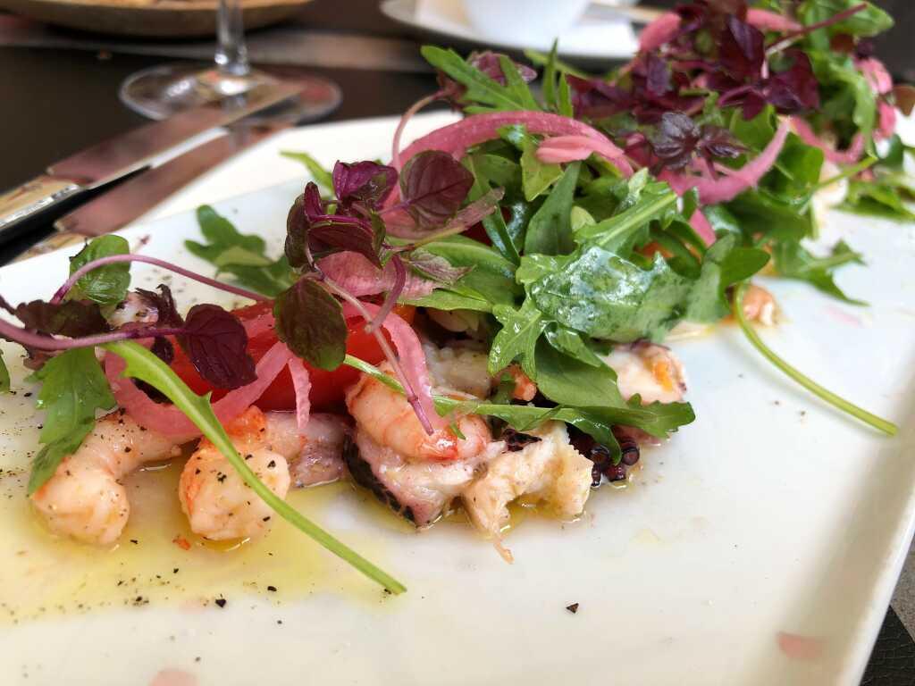 Meeresfrüchte Salat | Muschel | Octopus | Shrimps | Staudensellerie | Rucola